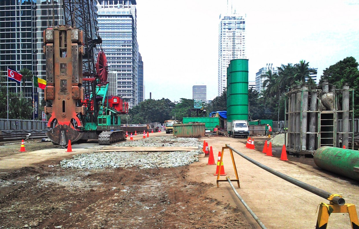 Construction of underground MRT stations Central Jakarta - Slider 3