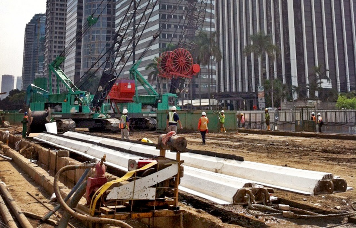 Construction of underground MRT stations Central Jakarta - Slider 4